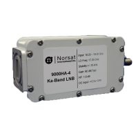 Norsat 9000 Single-Band Ka-Band (21.20 - 22.20 GHz) PLL LNB Model 9500HD-4