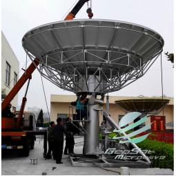 GeoSat 6.2 Meter (10.7 - 12.75, 13.75 - 14.5 GHz) KU-Ban Earth Station Antenna   Model GA62MKUTXRX