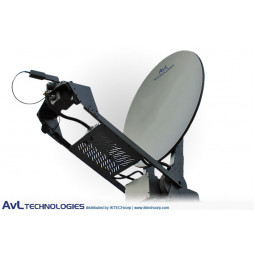 AvL 1000 1.0m SNG Vehicle-Mount Satellite Antenna 2-Port L-Band