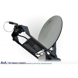 AvL 1000-HW 1.0m SNG Vehicle-Mount Satellite Antenna 2-Port L-Band High Wind