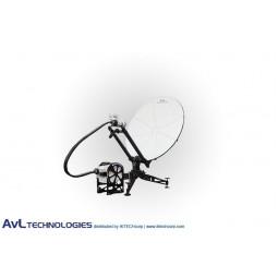 AvL 1014 1.0m Manual or Motorized FlyAway Military Compact Portable Antenna X-Band