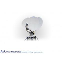 AvL 1030-T 1.0m Military Motorized Tri-Band FlyAway Tripod Antenna Ka-band