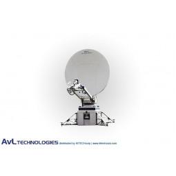 AvL 1050-T 1.4m SNG Motorized Tri-Band FlyAway Tripod Antenna X-Band