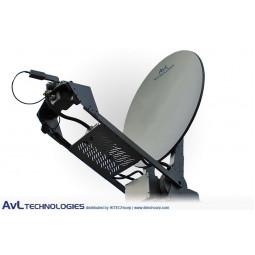 AvL 1078 1.0m Motorized Vehicle-Mount VSAT Satellite Antenna Ku-Band