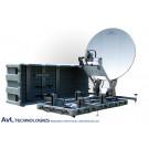 AvL 1212FD 1.2m Premium SNG Motorized FlyAway or DriveAway Antenna Ku-Band Mode-Matched