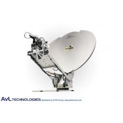 AvL 1212LS Premium Military 1.2m Motorized Vehicle-Mount X-Band - Low Stow