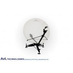 AvL 1215 1.2m Manual or Motorized FlyAway SNG Compact Portable Antenna Ku-Band
