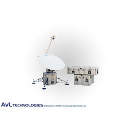 AvL 1220FA 1.6m Military Motorized Tri-Band FlyAway Antenna X-Band