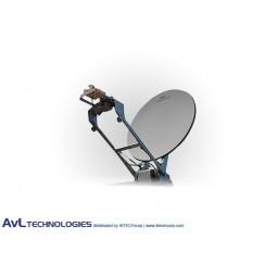 AvL 1258 1.2m Low Stow Motorized Vehicle-Mount VSAT Satellite Antenna Ku-Band