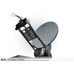 AvL 1278FD 1.2m Mobile VSAT Fly and Drive Satellite Antenna Ku-Band
