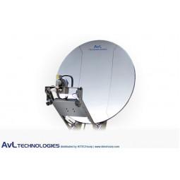 AvL 2010 Premium SNG 2.0m Motorized Vehicle-Mount Satellite Antenna Ka-Band Commercial