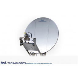AvL 2012 Premium SNG 2.0m Motorized Vehicle-Mount Satellite Antenna Mode-Matched Ku-Band