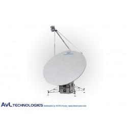 AvL 2020FA 2.4m Military Motorized Quad-Band FlyAway Antenna X-Band