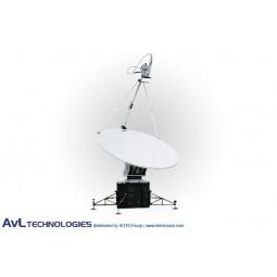 AvL 2020FA 2.0m Military Motorized Quad-Band FlyAway Antenna Ka-Band