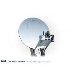 AvL 2412 Premium Military 2.4m Motorized Vehicle-Mount Satellite Antenna Ku-Band