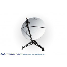 AvL 2415 2.4m Manual or Motorized FlyAway Military Compact Portable Antenna X-Band