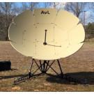 AvL Technologies 2.4m Ultra Lightweight Manual FlyAway Military Antenna