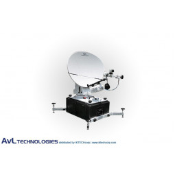 AvL 9066FA 90x66cm SNG Motorized Tri-Band FlyAway Antenna Ku-band