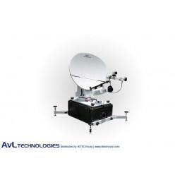 AvL 9066FA 90x66cm Military Motorized Tri-Band FlyAway Antenna X-band