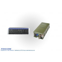 Foxcom Complete L-Band, 10MHz and RS422 Fiber Optic Solution for Maritime Applications