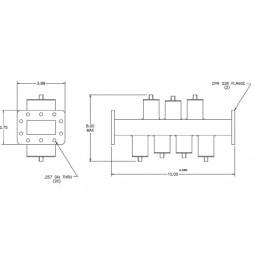 Microwave C-Band (Dual Passbands) Bandstop Filter Model 18925