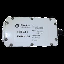 Norsat 9000 Ka-Band (18.2-20.2 GHz) Dual-Band PLL LNB F-Type ±70 kHz Model 9700HABN-4