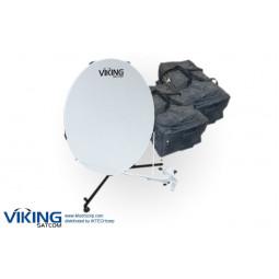 VIKING VS-100QD6LS-KU 1.0 Meter Quick-Deploy Manpack VSAT Tx/Rx Transmit/Receive Antenna System
