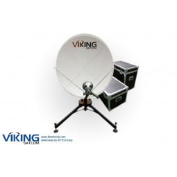 VIKING VS-120QD4SMCTH-KU 1.2 Meter Quick-Deploy VSAT Tx/Rx Transmit/Receive Antenna System