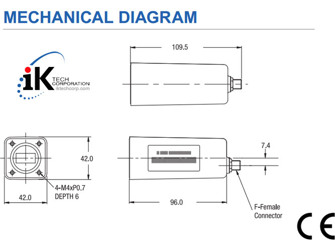 Norsat HS1000 KU-BAND PLL LNB Technical Specifications Diagram