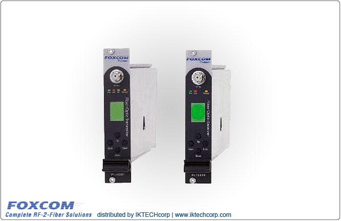 Foxcom Platinum PL7130T1550 / PL7130R20 , 10MHz Reference RF Link High Power Input, 20 dB Optical Budget