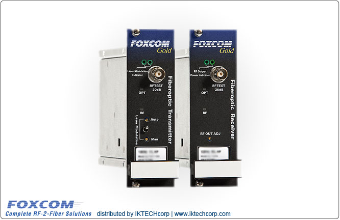 Foxcom Gold GL7130 RF Optical Link 10MHz Reference Signal, 4dB Optical Budget