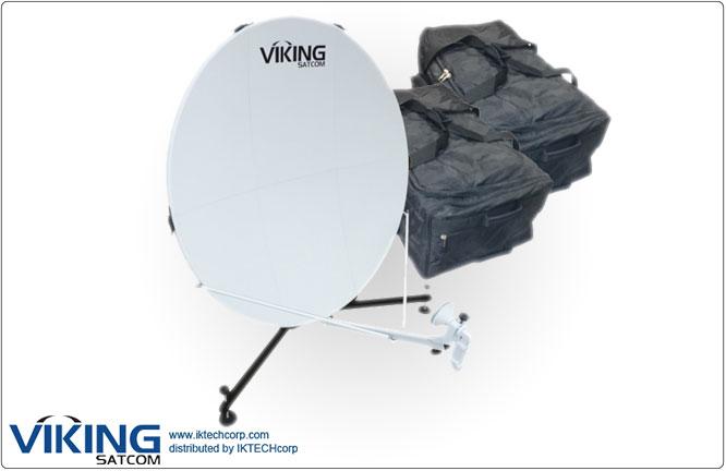 VIKING VS-100QD6LS-KU 1.0 Meter Quick-Deploy Manpack VSAT Tx/Rx Transmit/Receive Antenna System Product Picture, Price, Image, Pricing